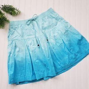 Gap Blue Ombre Dye A Line Skirt w Pockets sz Med